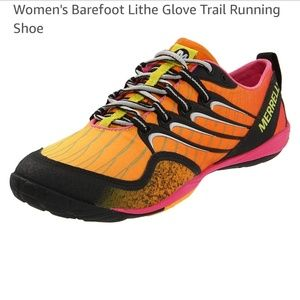 Merrell lithe glove Cosmo pink barefoot sneakers
